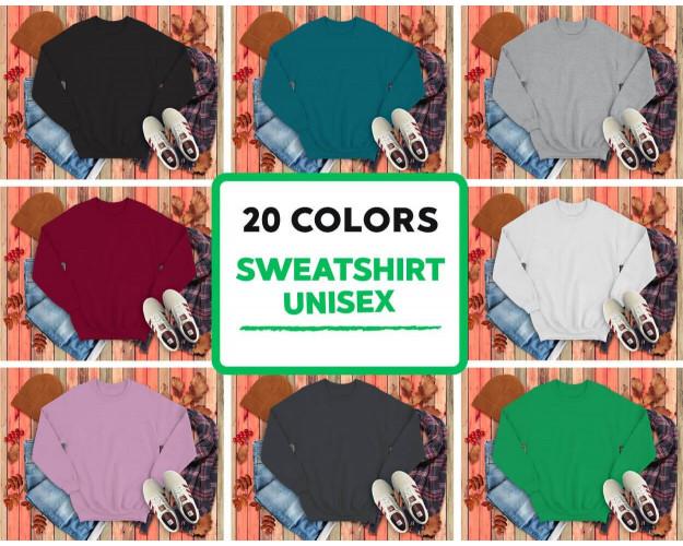 Autumn Style Mockup Bundle 222+ Hoodies, Sweatshirts, T-Shirts