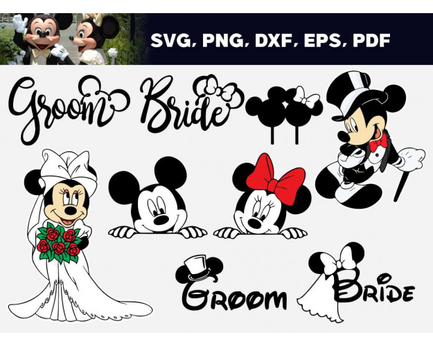 Just Married SVG 50+ Bundle, Just Married Cricut, Marriage Clipart