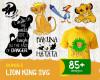 Lion King SVG 85+ Bundle, Lion King Cricut, Lion King Clipart