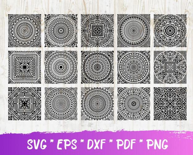 Mandala SVG 60+ Bundle, Mandala Cricut, Mandala Clipart
