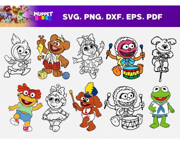 Muppet Babies SVG 68+ Bundle, Muppet Babies Cricut, Muppet Clipart