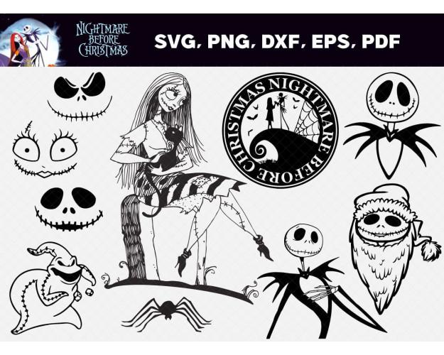 Nightmare Before Christmas SVG 60+ Bundle, Nightmare Before Cricut
