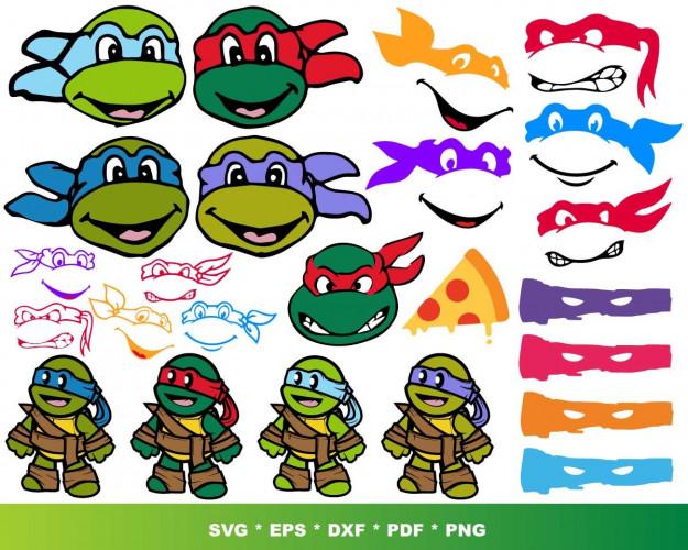 Ninja Turtles SVG 1000+ Bundle, Ninja Turtles Cricut, Ninja Clipart