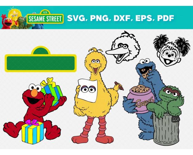 Sesam Street SVG 43+ Bundle, Sesam Street Cricut, Sesam Clipart
