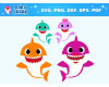 Shark Family SVG 35+ Bundle, Shark Family Cricut, Fun Clipart