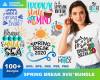 Spring Break SVG 100+ Bundle, Spring Break Cricut, Spring Clipart