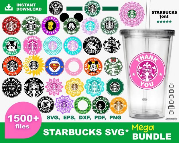 Starbucks SVG 1500+ Bundle, Starbucks Cricut, Starbucks Clipart