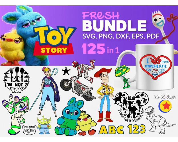 Toy Story SVG 125+ Bundle, Toy Story Cricut, Toy Story Clipart