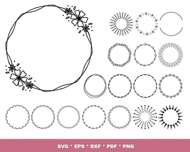Wreaths And Circles SVG 100+ Bundle, Wreaths Cricut, Circles Clipart