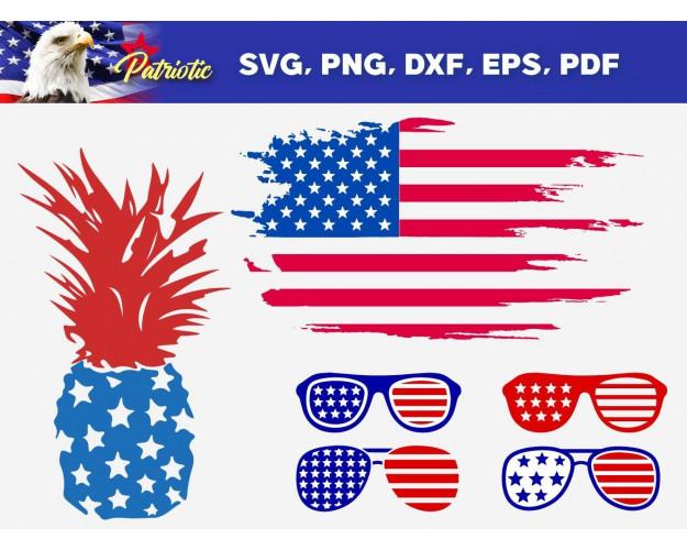 Patriotic SVG 230+ Bundle, Patriotic Cricut, Patriotic Clipart