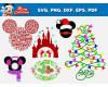 Mickey Mouse SVG 53+ Bundle, Mickey Mouse Cricut, Christmas Clipart