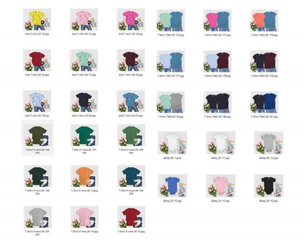 Spring Style White Wood Mockup Bundle 285+ Hoodies, Sweatshirts, T-Shirts
