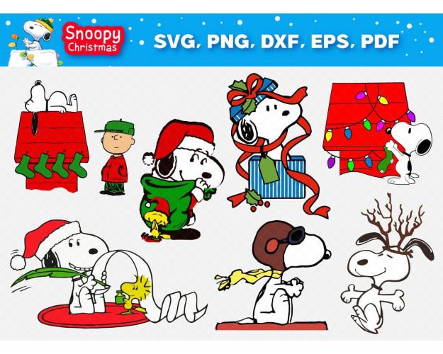 Christmas SVG 42+ Bundle, Snoopy Cricut, Christmas Clipart