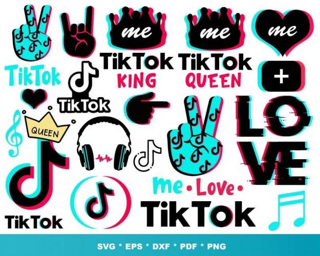TikTok SVG 1000+ Bundle, TikTok Cricut, TikTok Clipart