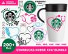 Starbucks Nurse SVG 200+ Bundle, Starbucks Cricut, Nurse Clipart