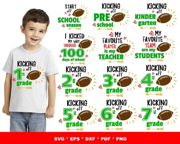 Kicking Off School SVG 65+ Bundle, School Cricut, School Clipart