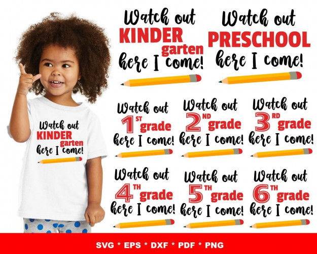Watch Out Here I Come SVG Bundle 40+ SVG, PNG, DXF, PDF 1.0