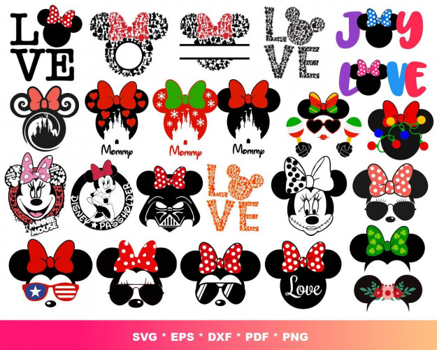 Minnie Princess SVG 300+ Bundle, Minnie Cricut, Minnie Clipart