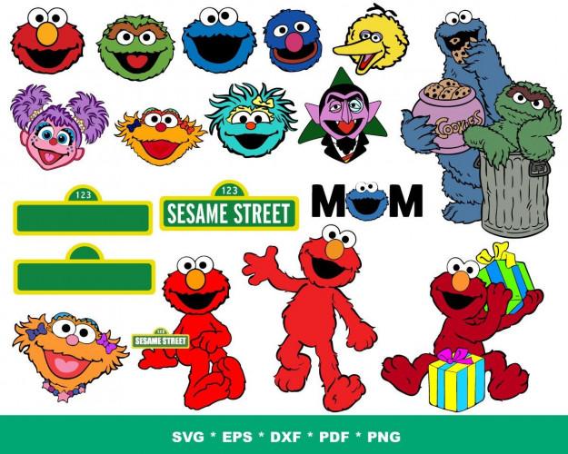 Sesam Street SVG Bundle 200+ SVG, PNG, DXF, PDF 2.0