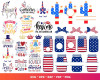 Independence Day SVG 2000+ Bundle, Independence Day Cricut, Clipart
