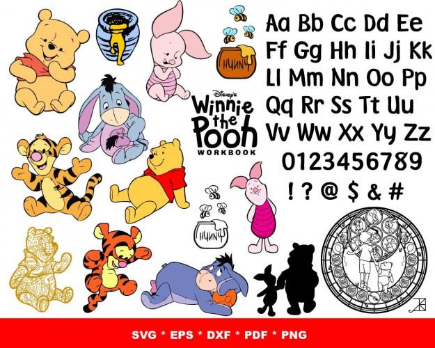 Winnie The Pooh SVG 1500+ Bundle, Winnie The Pooh Cricut, Clipart