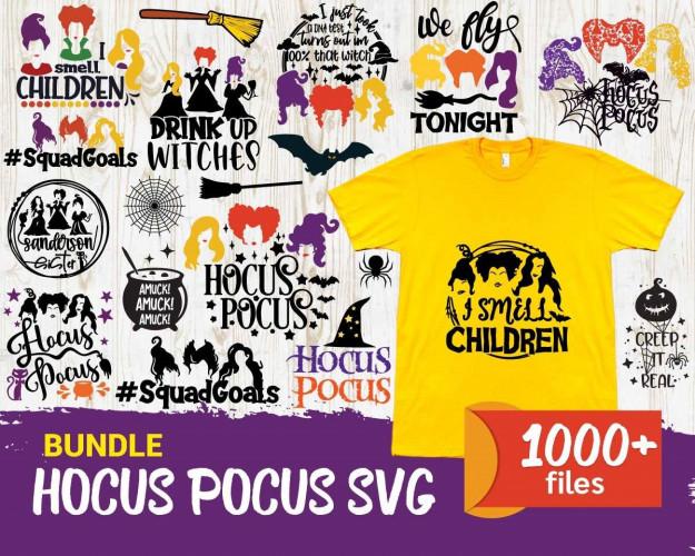 Hocus Pocus SVG 1000+ Bundle, Hocus Pocus Cricut, Hocus Pocus Clipart