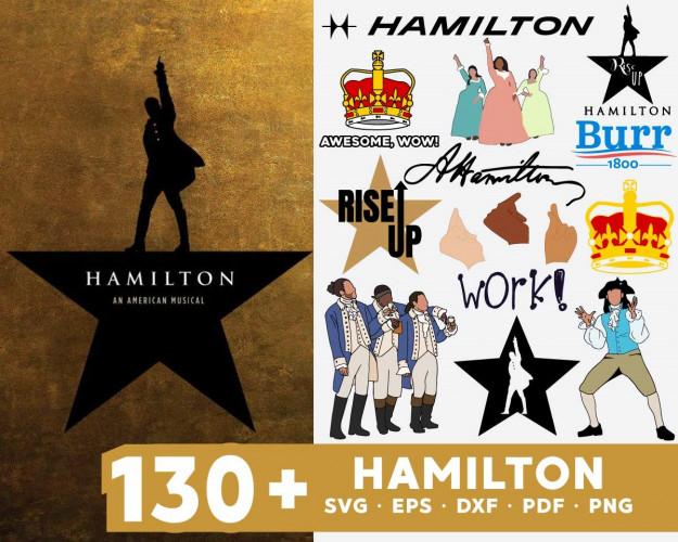 Hamilton SVG 130+ Bundle, Hamilton Cricut, Hamilton Clipart