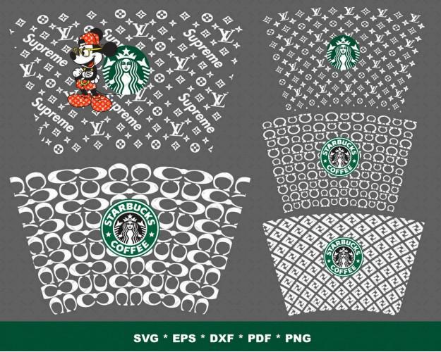 Starbucks Wrap Luxery SVG Bundle 270+ SVG, PNG, DXF, PDF 3.0