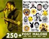 Post Malone SVG 250+ Bundle, Post Malone Cricut, Post Malone Clipart