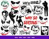 Joker SVG 1000+ Bundle, Joker Cricut, Joker Clipart
