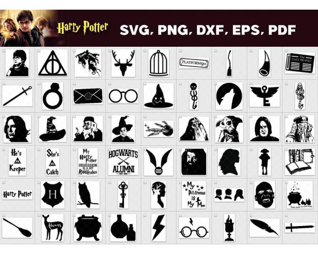 Harry Potter SVG 1000+ Bundle, Harry Potter Cricut, Harry Clipart