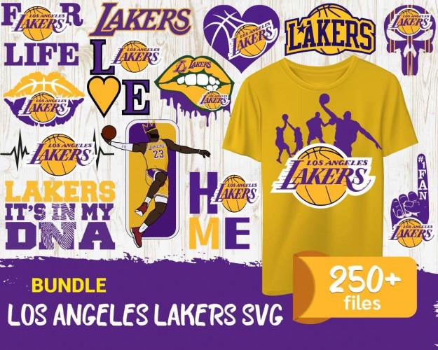 Lakers SVG 250+ Bundle, Lakers Cricut, Lakers Clipart