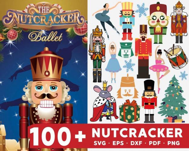 Nutcracker SVG 100+ Bundle, Nutcracker Cricut, Nutcracker Clipart