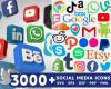 Social Media SVG MEGA Bundle 3000+ SVG, PNG, DXF, PDF 3.0
