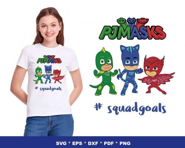 PJ Masks SVG 150+ Bundle, PJ Masks Cricut, PJ Masks Clipart