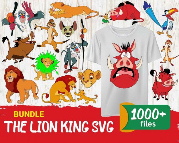 The Lion King SVG Mega Bundle 1000+ SVG, PNG, DXF, PDF 2.0