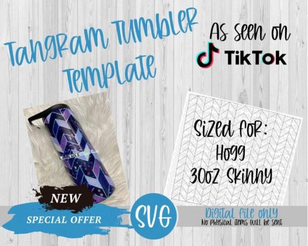 Tangram Tumbler Template SVG 30oz Skinny Hogg