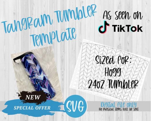 Tangram Tumbler Template SVG 24oz Tumbler Hogg