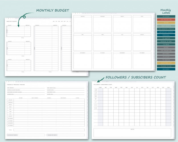 Digital Planner for Business Owners 2021