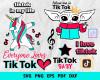 TikTok SVG 1100+ Bundle, TikTok Cricut, TikTok Clipart