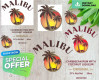 Malibu Rum PNG ONLY