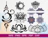Lotus Flower SVG 100+ Bundle, Lotus Flower Cricut, Lotus Clipart