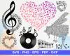 Musical Notes SVG 200+ Bundle, Musical Notes Cricut, Music Clipart