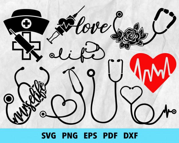 Medical Symbol SVG 300+ Bundle, Medical Symbol Cricut, Clipart
