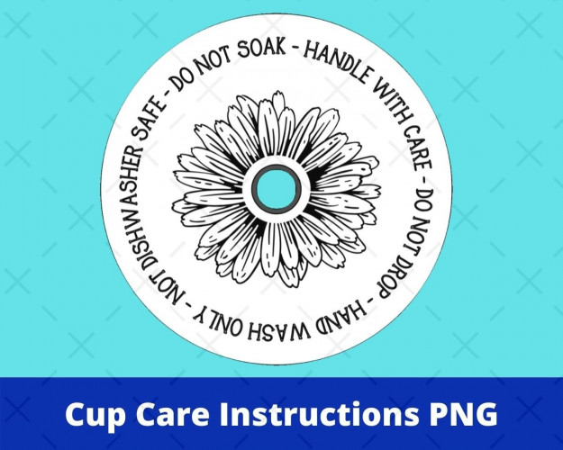 Cup Care Instructions Svg