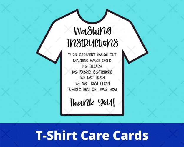 T-Shirt Care Cards