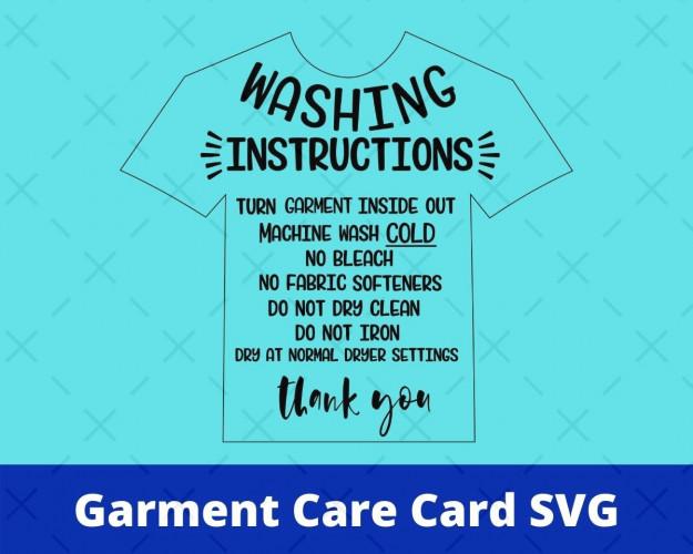 Garment Care Card SVG