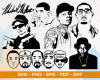 Rappers SVG 150+ Bundle, Rappers Cricut, Rappers Clipart