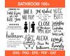 Bathroom Svg Bundle, Bathroom Quote, Restroom, Potty Dance, Farmhouse, Bathroom Sign, Funny Bathroom