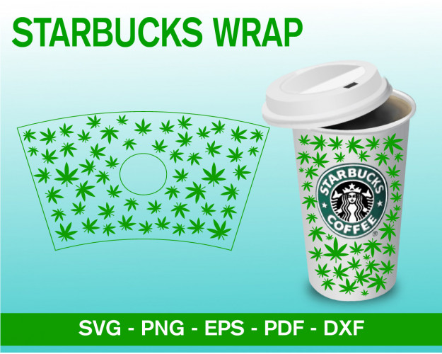 Starbucks Full Wrap Weed Decal For Starbucks Svg, Venti Cold Cup 24oz, Svg